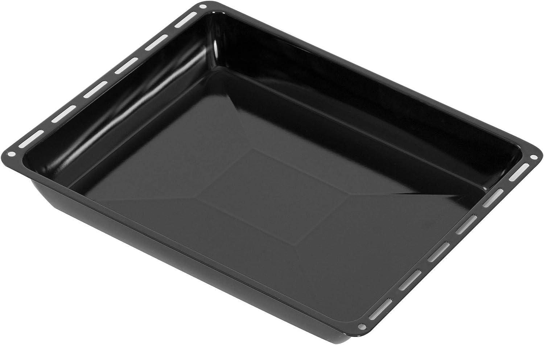 Backofenblech email schwarz tief Auflauf Backblech emailliert Kuchenblech Tebsi