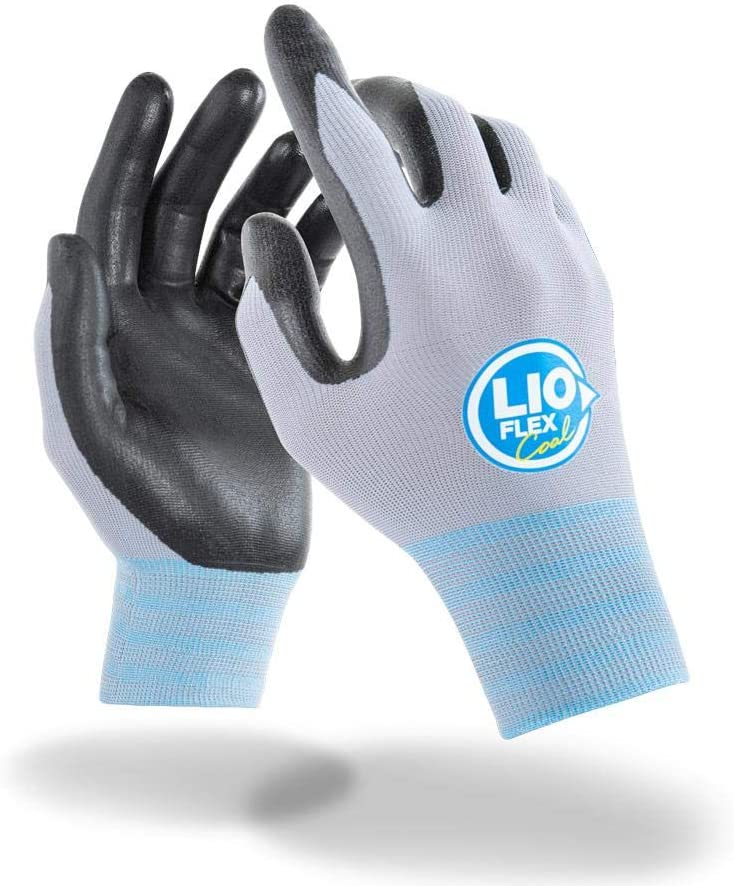 LIO FLEX Cool Working Gloves – Cooling effect, UV Protection, Quick absorption & drying, Light weight, Breathable, Flexible, Durable, Touch Screen, DMF Free - 3 Pairs, M