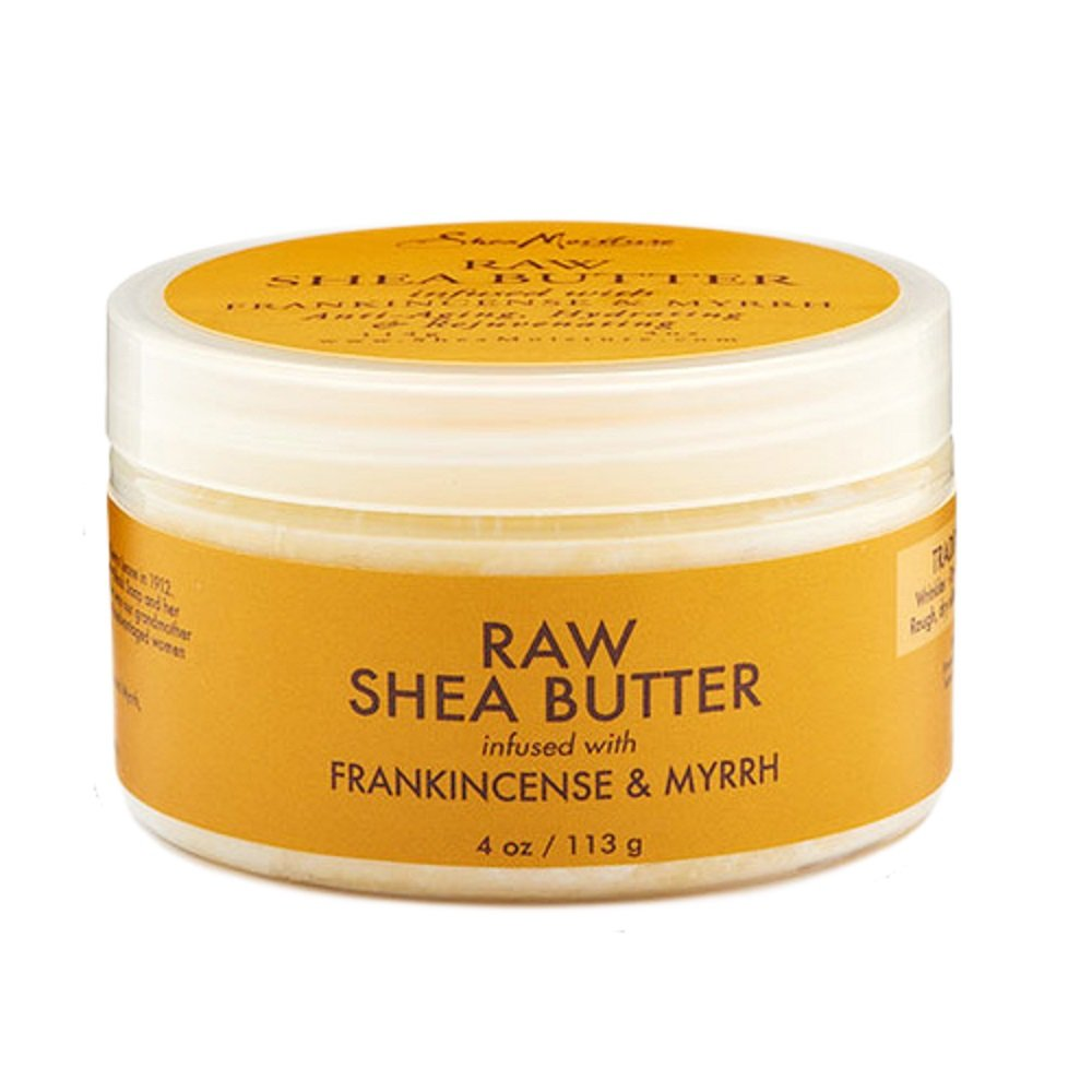 SheaMoisture 4 oz Frankincense & Myrrh Infused Raw Shea Butter U-SC-4809