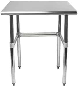"""AmGood 24"""" X 30"""" Stainless Steel Work Table Open Base 