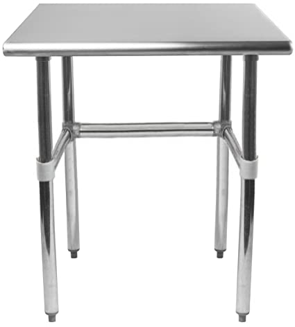 Amazoncom X Stainless Steel Work Table With Open Base - Stainless steel open base work table