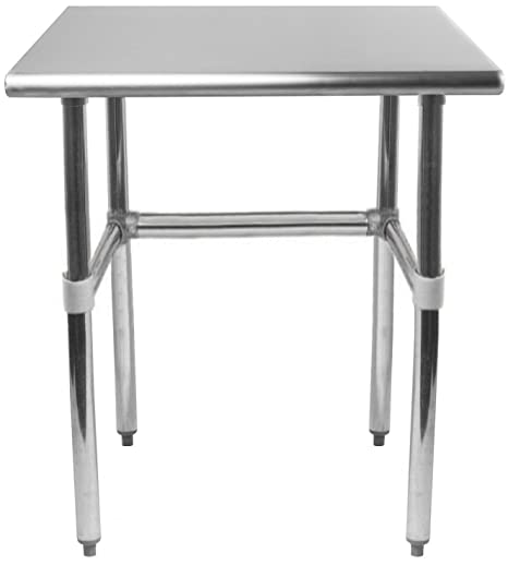 Superb Amgood Stainless Steel Work Table Open Base Removable Crossbar Nsf Certified Kitchen Island Food Prep Laundry Garage Utility Bench 12 Long X Pdpeps Interior Chair Design Pdpepsorg