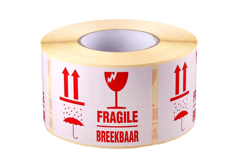 1000 x, FRAGILE/BREEKBAAR, spedizione-Packaging-Adesivi/etichette adesive, misura grande, 110 x 80 mm Homely World