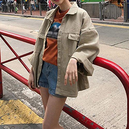 Giacca Giubbotto Lungo Giacchetto Jeans Giubbino Donna Cachi Giacche Di Oversize pHqrpS
