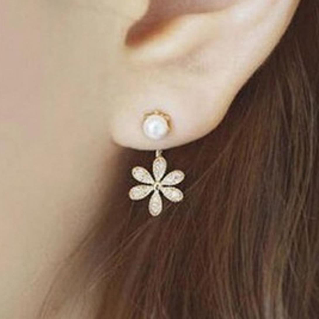 Minshao 1Pair Women's Five Flower of Design of Stud Earrings