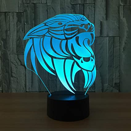 Amazon Com Aetd Lion 3d Lamp 7 Color Led Night Lamps For Kids Touch