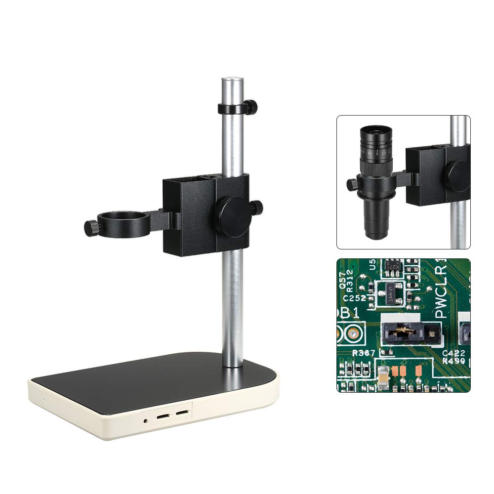 CCD Industrial Camera Holder 41mm Adjsutable Upper and Down Regulation Digital Industry Lab Microscope Lens Table Stand Dual Ring Fixed Holder by Godyluck