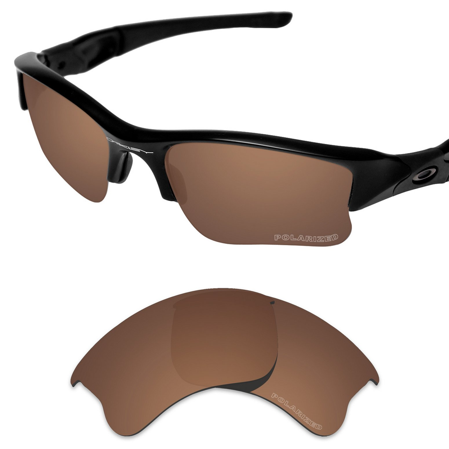 e01129fa12 Tintart Performance Lenses Compatible with Oakley Flak Jacket XLJ Polarized  Etched-Nut Brown