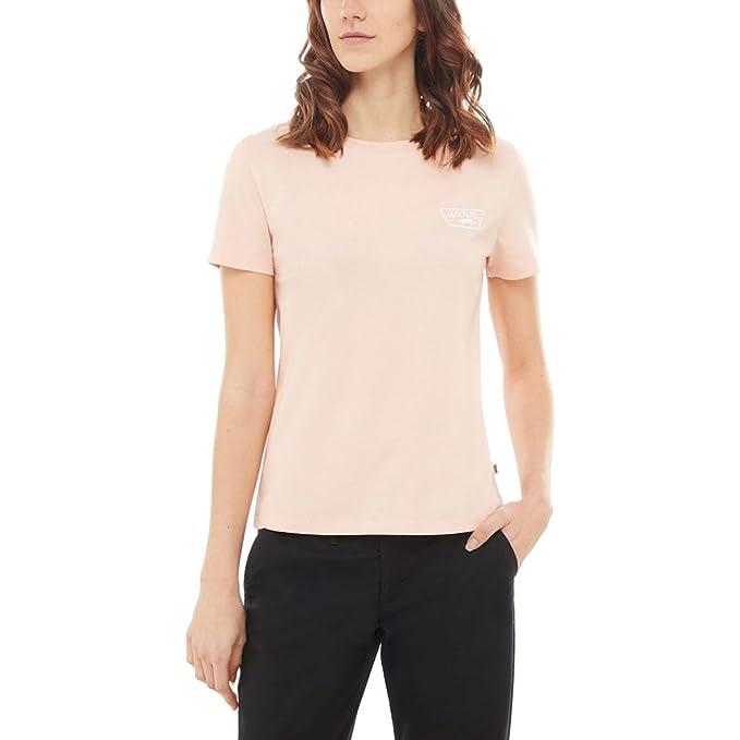 aa7d888d Vans Full Patch Crew Womens Short Sleeve T-Shirt X Small Rose Cloud: Amazon. co.uk: Clothing