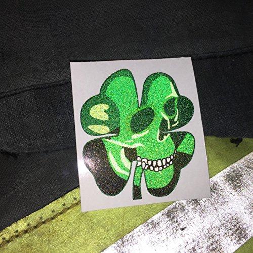 4 Reflective Vinyl Clover Shamrock Fire Helmet Decals Stickers 2 inch