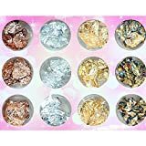 Best Box Of Nail Arts - IDS 12 Boxes Gold Silver Copper Rainbow Foil Review