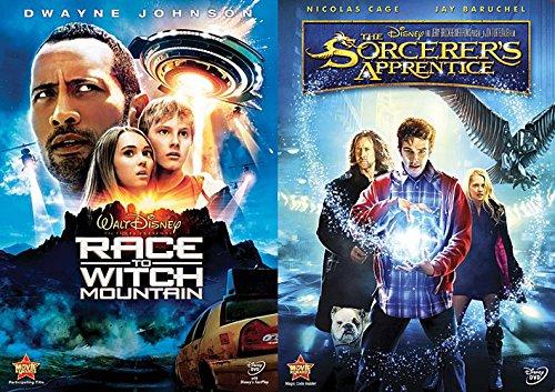 Disney The Sorcerer's Apprentice DVD Set & Race to Witch Mountain Fantasy Kids Set