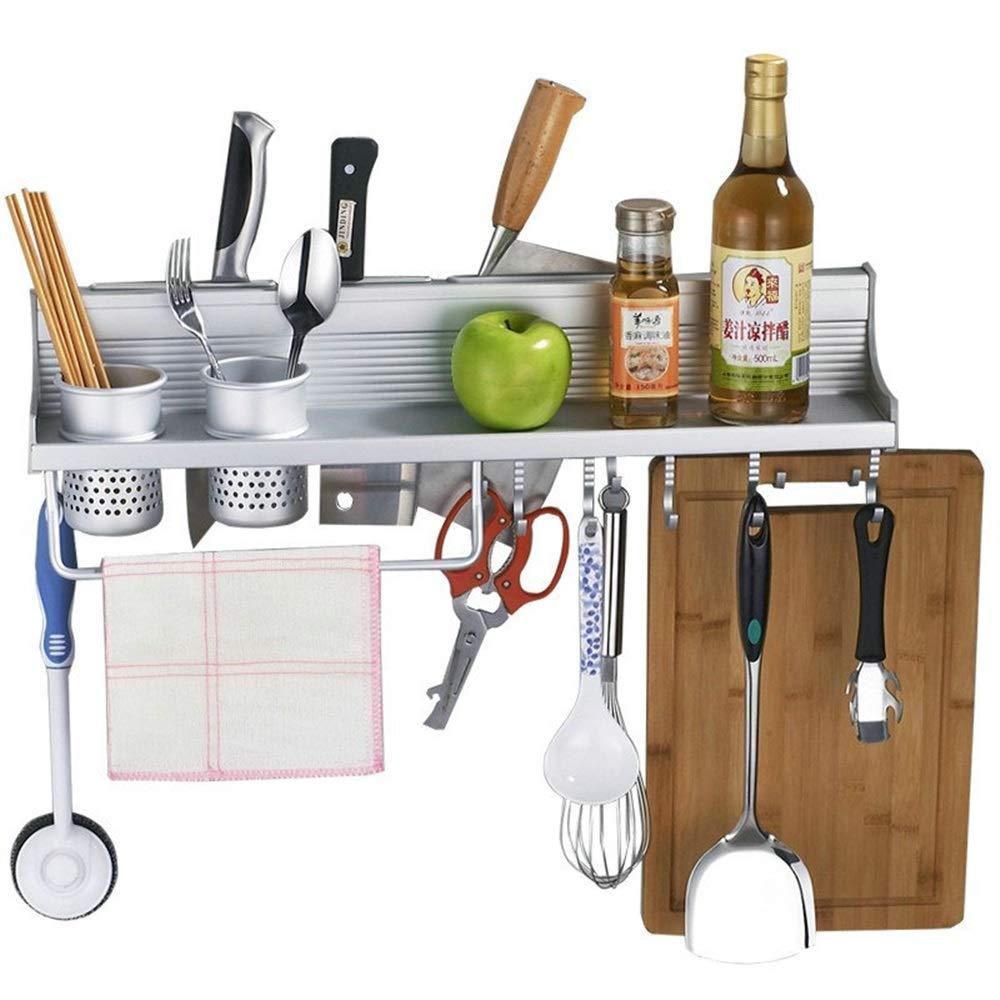 YChoice Rack Decor Lightweight Space Aluminum Kitchen Shelf Tool Holder Double Row Activity Hook Kitchen Hanger Wholesale
