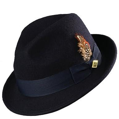 0fa2c8c02abbdd Stacy Adams Men's Wool Felt Pinch Front Fedora Hat at Amazon Men's Clothing  store: