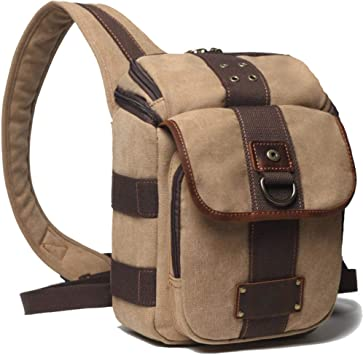 Lightweight Messenger Bag Single Shoulder Slung SLR Photography Digital Camera Bag SLR Camera Bag Waterproof Canvas Men and Women Bag Adjustable Shoulder Strap Color : Gray