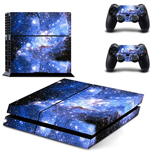 UUShop Starry Sky Vinyl Skin Decal Cover for Sony PlayStation 4 PS4 Console Sticker