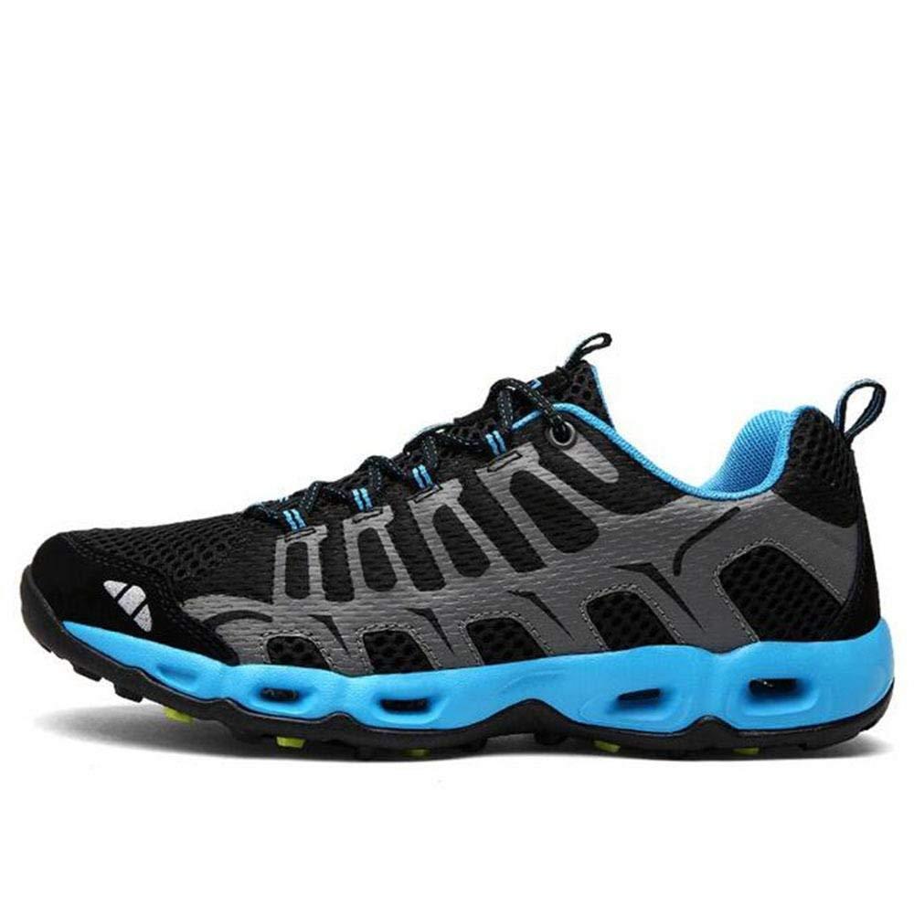 HhGold SportOutdoor Wanderschuhe Wanderschuhe Stoßdämpfung Atmungsaktiv Anti - Skid Wear (Farbe   Sapphire Größe   EU 40)