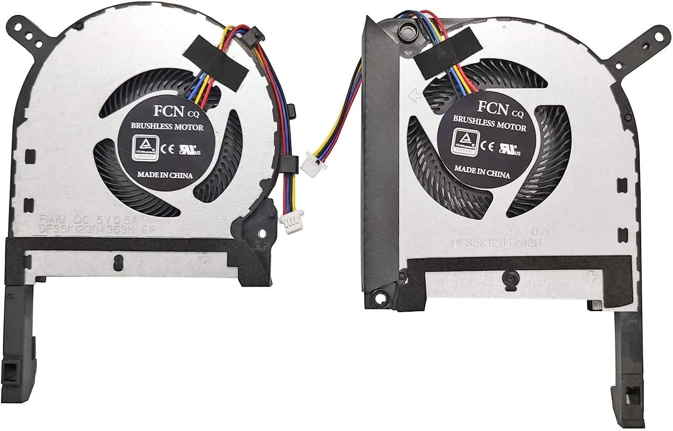 HK-Part Fan for ASUS TUF FX505DT FX705DU FX705DD FX705DT FX705G FX505D FX505GE CPU Gpu Cooling Fan Set Dual Fans