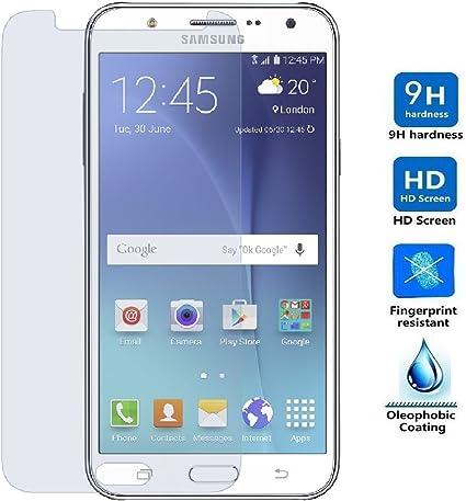 REY Protector de Pantalla para Samsung Galaxy J7 Cristal Vidrio Templado Premium: Amazon.es: Electrónica