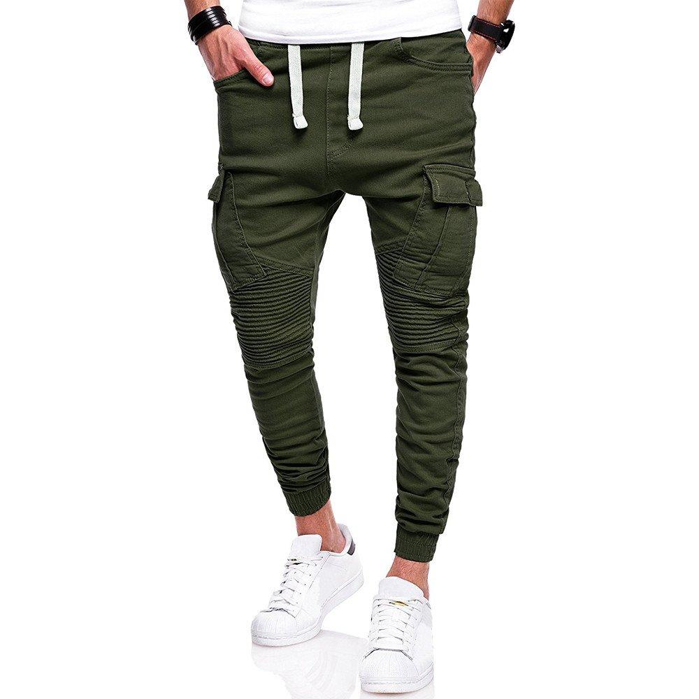 Spbamboo Mens Pants Sport Camouflage Pockets Casual Loose Drawstring Sweatpants by Spbamboo (Image #1)