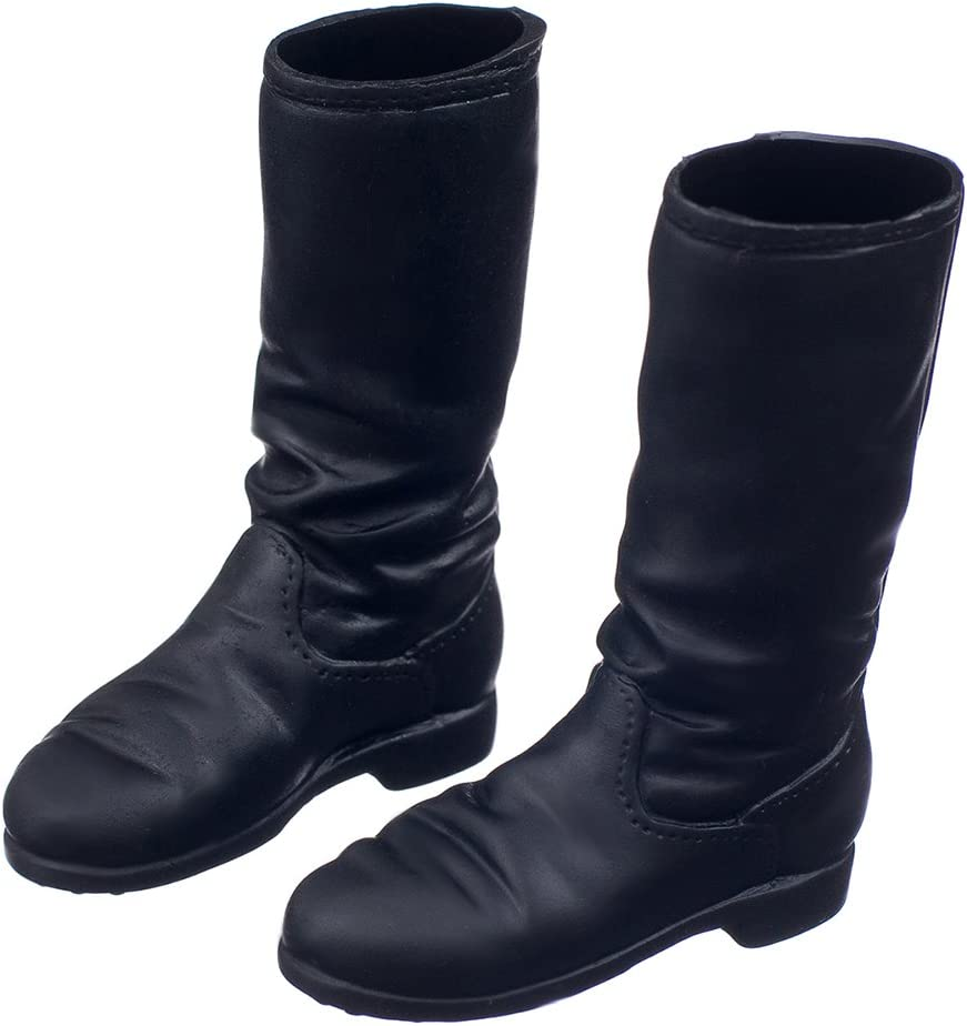 """1//6 Scale Black Long Boots For 12/"""" Action Figure"""