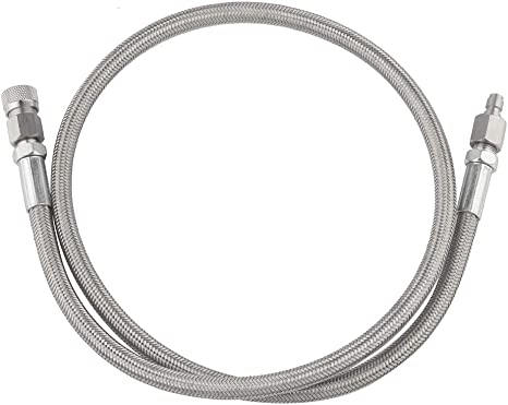 Paintball Stainless Steel Braided High Pressure Air Fill Hose Line 4500PSI