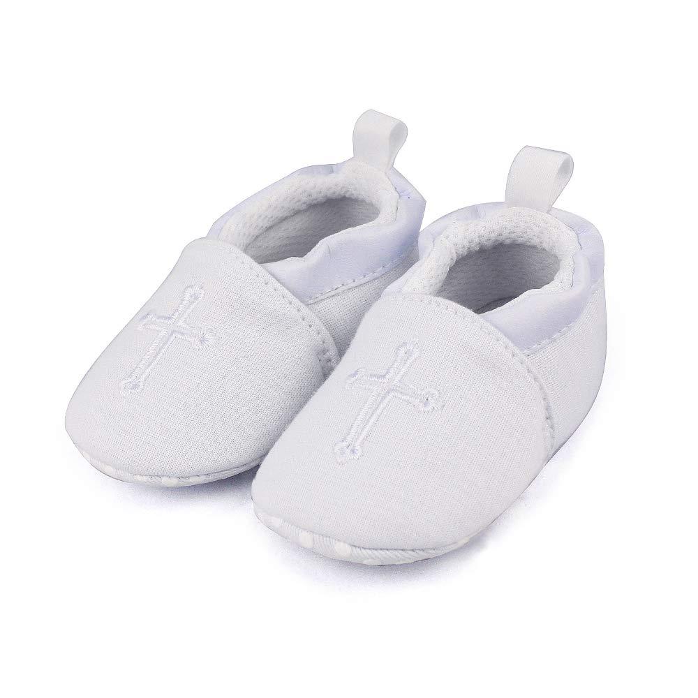 Baby Boys Girls Premium Soft Sole Christening Baptism Church Cross Slipper Crib Shoes, 3-6 Months by Estamico (Image #9)