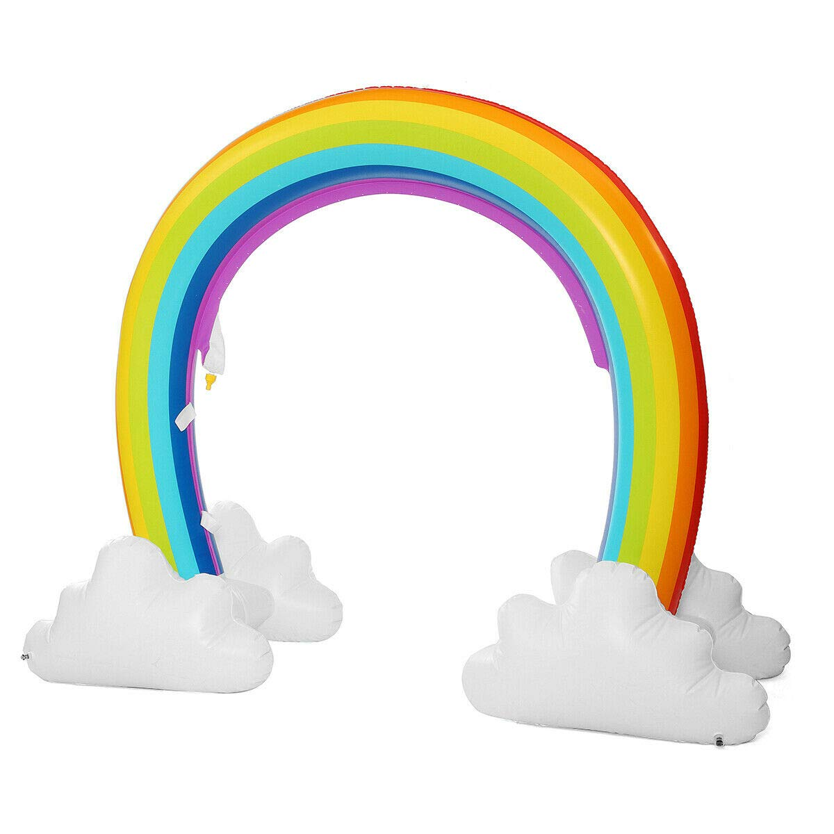 MerryXD Rainbow Sprinkler,Giant Water Inflatable Arch Sprinkler Outdoor Summer Toys for Kids by MerryXD (Image #6)