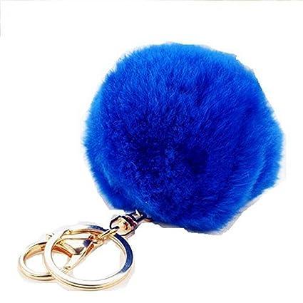 Pusheng - Llavero con bola de pelo, azul zafiro: Amazon.es ...
