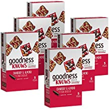 goodnessKNOWS Cranberry, Almond & Dark Chocolate Gluten Free Snack Squares 5-Count Box (Pack of 6)