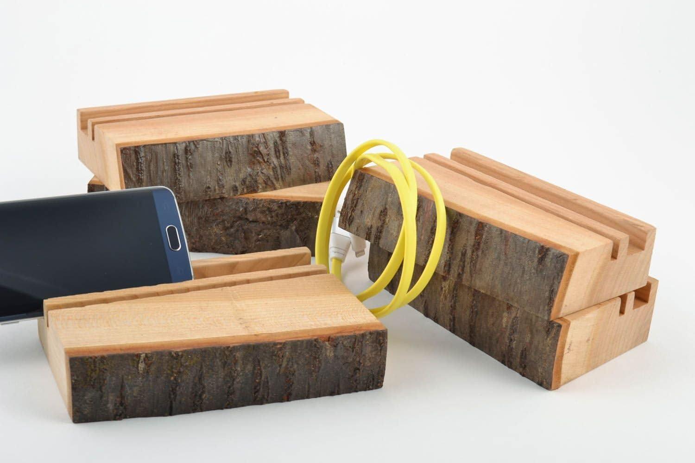 Set Of 5 Handmade Eco Friendly Wooden Organic Convenient Designer Tablet Stands