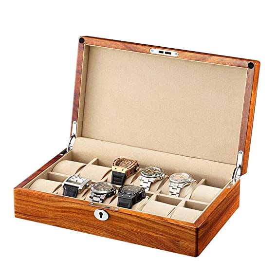 Watch Case Jewellery Display Box Mens Storage P0k8nwO