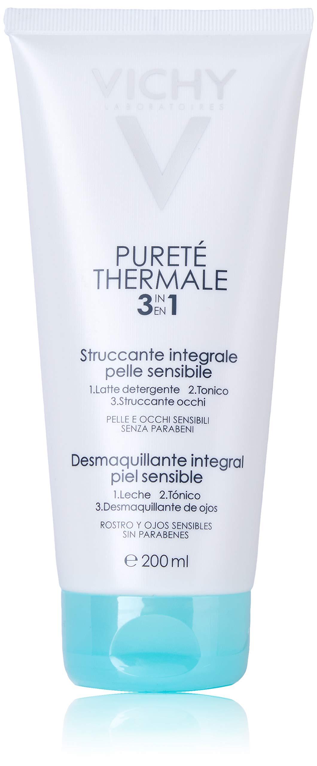 Vichy Pureté Thermale One Step Cleanser for Sensitive Skin, 6.7 Fl Oz