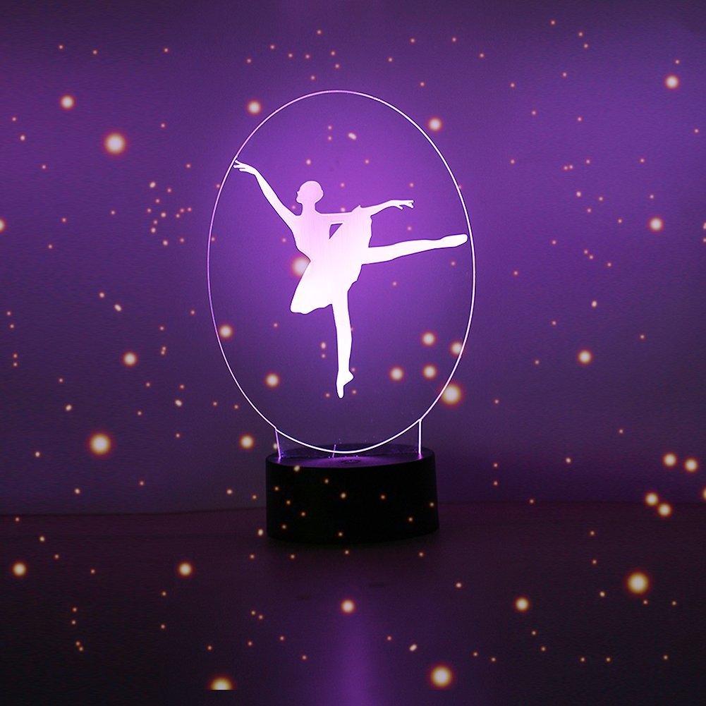 Ballett Geschenke Mädchen Ballett Kinder Geburtstag Schlafzimmer Geburtstagsgeschenke Ballerina Ballerinas Ins Ballett 3D LED Licht Nachtlicht Dekoration golight