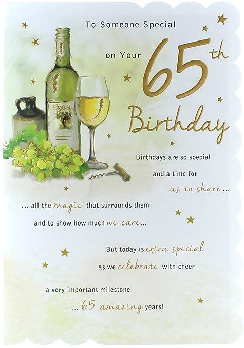Goldmark Age 65 Male Birthday Card