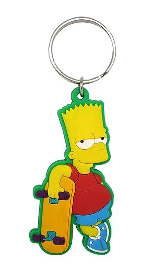 Fox Bart Simpson Tacto Suave PVC Llavero: Amazon.es ...