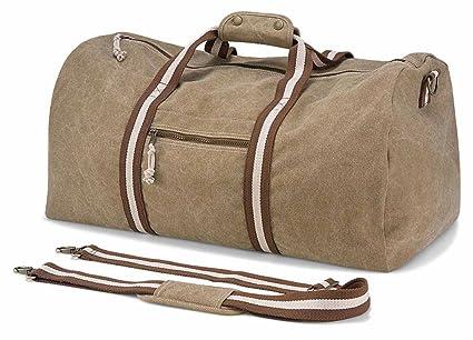 9f3efa3769 Quadra - sac de voyage toile vintage look usé - DESERT CANVAS HOLDALL -  QD613 -