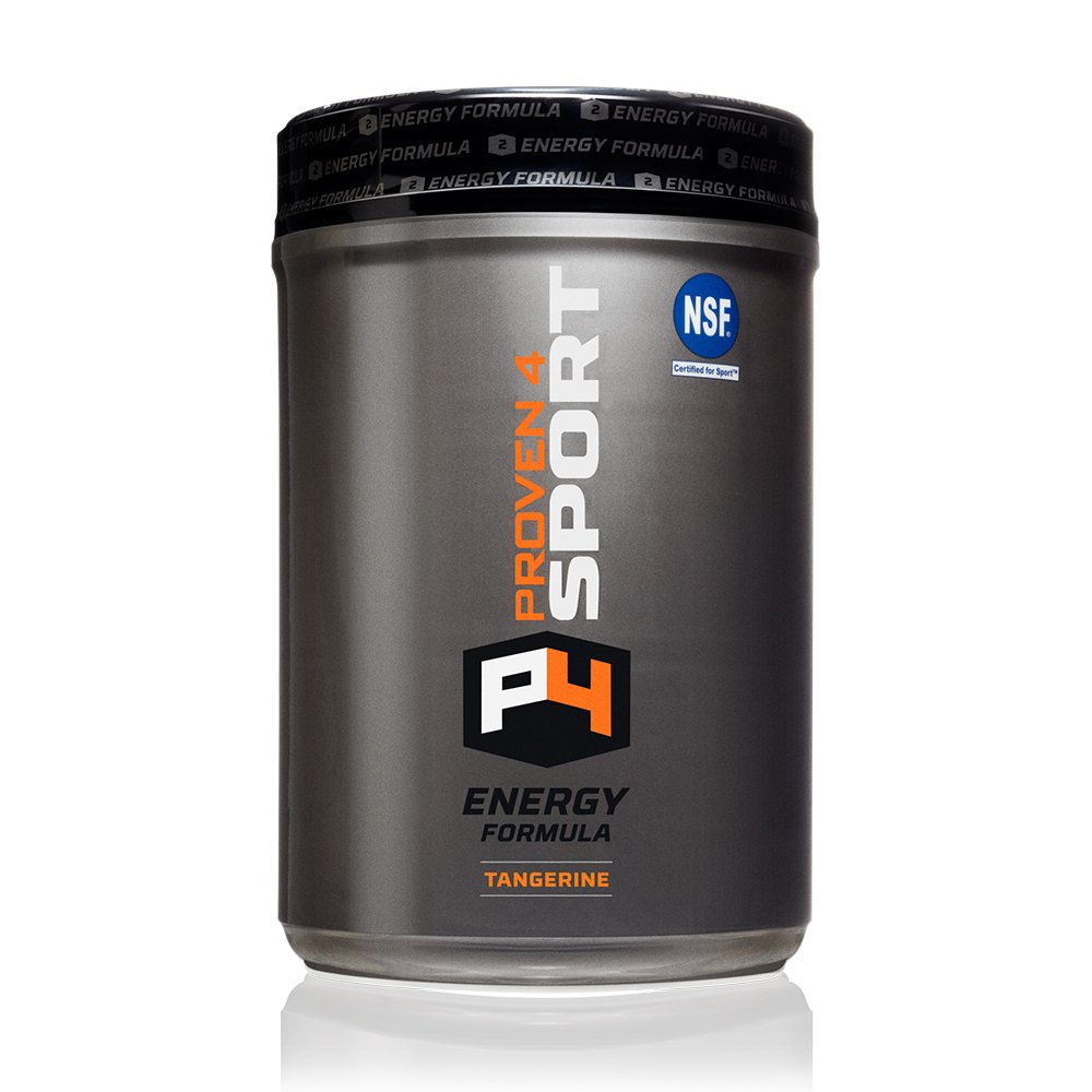Proven4 Energy/Pre Workout Drink Supplement w/Carb Loader, Electrolytes and Caffeine - Flavor: Tangerine (NSF Certified for Sport)