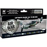 Vallejo Model Air Set - Rlm Set 2 (6 X Rlm, Matt Varnish & Thinner) - Val71166