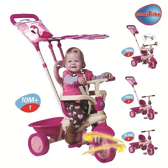 Smart Trike - Triciclo Safari Flamingo Rosa Dirigible: Amazon.es: Juguetes y juegos