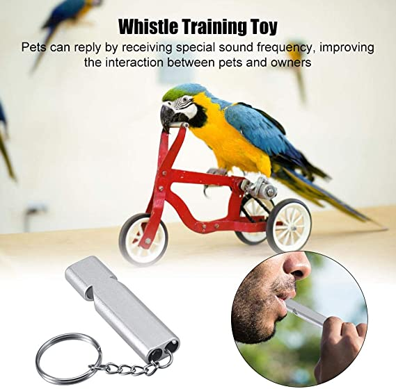 Furnoor Birds Training Whistle Aluminium Alloy Ultrasonic Dog Birds Training Whistle Behavior Trainer with Ring
