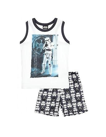 766c9211abc6d STAR WARS Pyjama débardeur Enfant garçon Blanc/Gris de 4 à 10ans:  Amazon.fr: Vêtements et accessoires