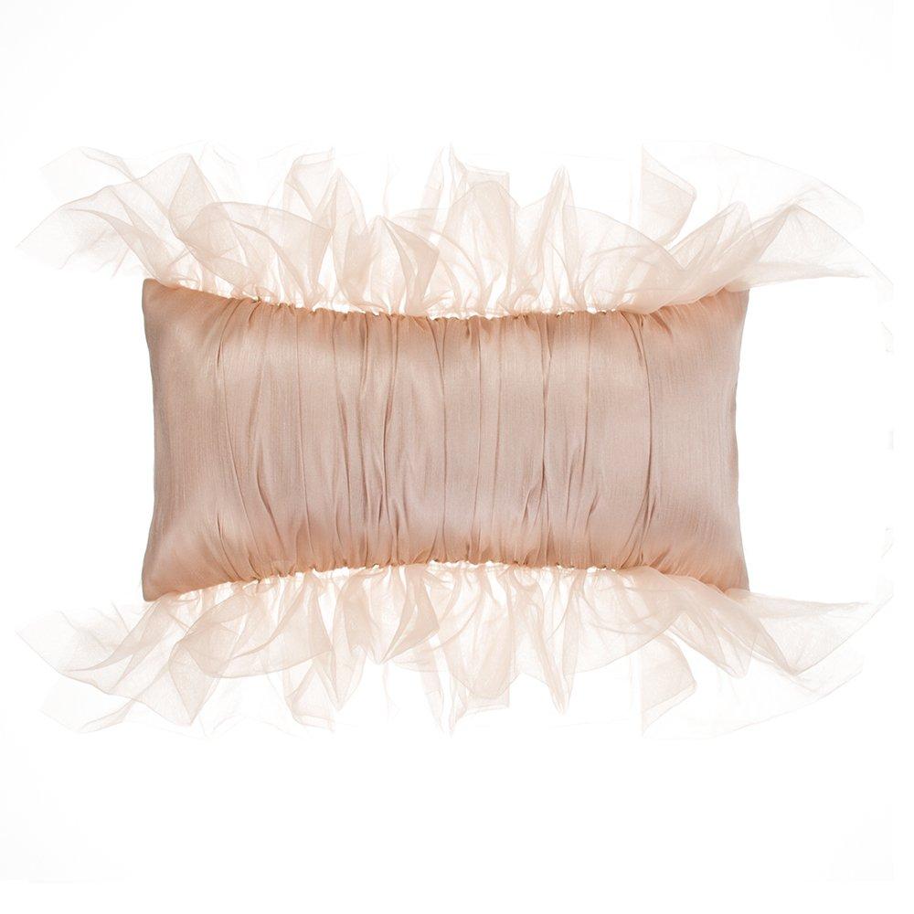 Glenna Jean Remember My Love Pillow, Rectangle, Reversible Pink/Cream Pintuck