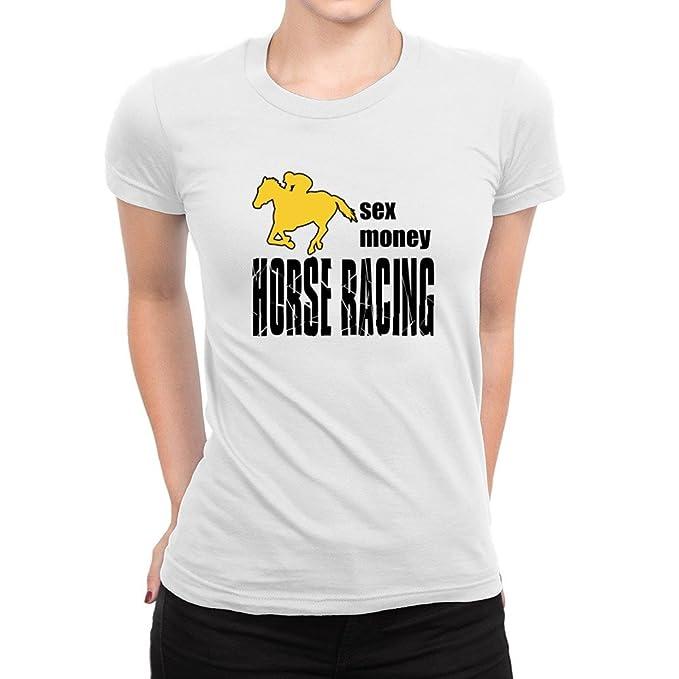 Idakoos - Sexo, dinero, carreras de caballos - Sports - Camiseta para mujer: Amazon.es: Ropa y accesorios