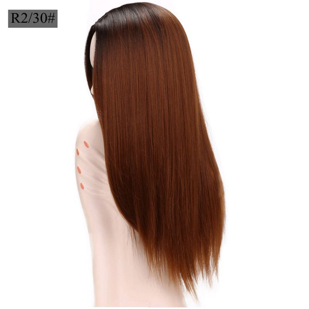 Amazoncom 26 Ombre Grey Blonde Brown Straight Hair Ombre
