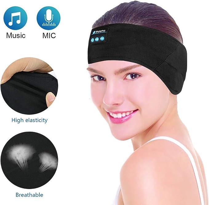 Kabelloses Bluetooth Stirnband E More Waschbare Verstellbare Schlafkopfhörer Schweißbänder Freisprecheinrichtung Musik Sport Headset Mit Mikrofon Integrierte Lautsprecher Für Laufen Bekleidung