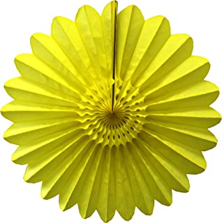 product image for 6-Pack 18 Inch Tissue Paper Fanburst (Yellow)