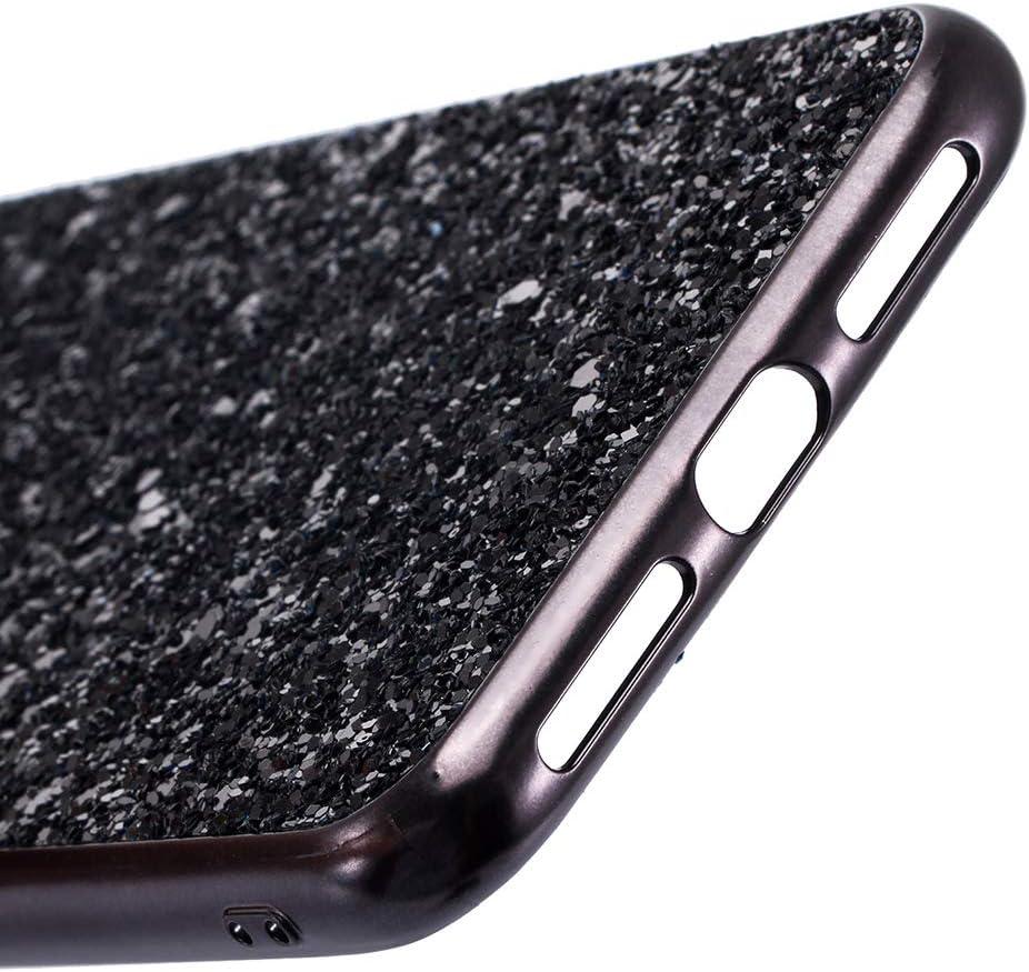 WIWJ Handyh/ülle Kompatibel f/ür iPhone XS MAX Glitzer Gold,Bling Sparkles Glitter Cover TPU Silikon Bumper Case Handy Schutzh/ülle f/ür iPhone XS MAX R/ückseite