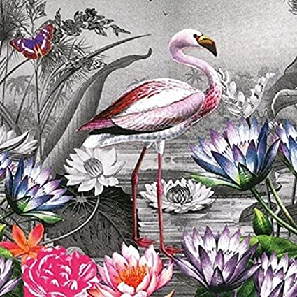 Napkin Art 4 x Paper Napkins Ideal for Decoupage Flamingo