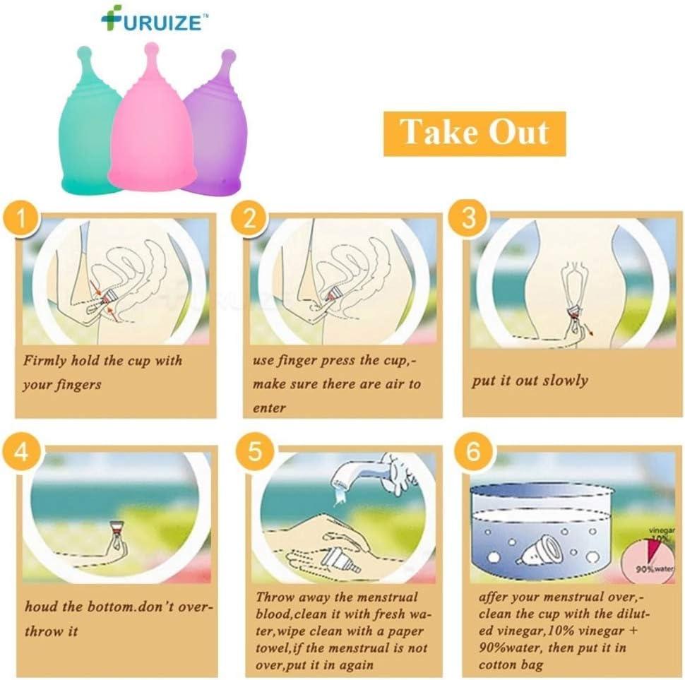 Copa Menstrual con Esterilizador Plegable Furuize. Incluye ...